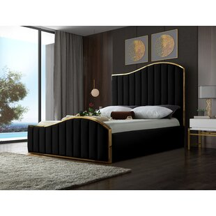 Celestine Velvet Upholstered Platform Bed by Mercer41