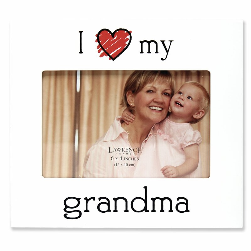 Zoomie Kids Gastonville I Love My Grandma Picture Frame & Reviews ...