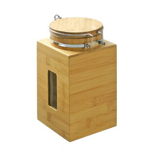 Harless Bamboo Tight Canister Storage Jars