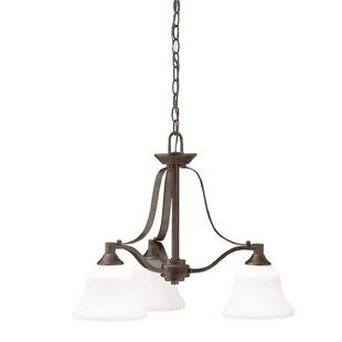 Alcott Hill Avilla 3-Light Shaded Chandelier