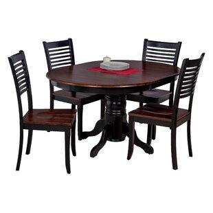 Maryrose Modern 5 Piece Solid Wood Dining Set