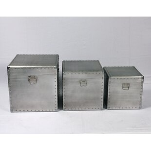 Riegel Aluminum Square 3 Piece Trunk Set by Williston Forge