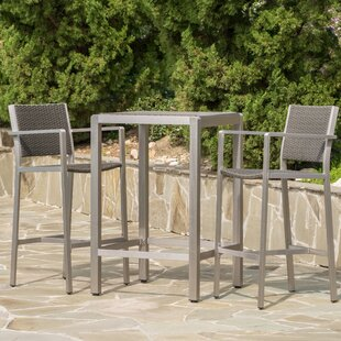 Royalston 3 Piece Bar Height Dining Set