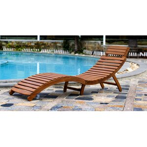 curved folding chaise lounge