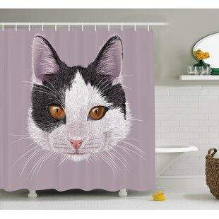 Kitty Single Shower Curtain