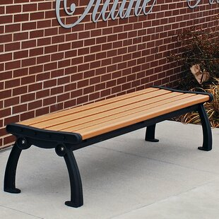 Heritage Backless Recycled Plastic Park Bench by Frog Furnishings Coupon