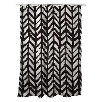 House Of Hampton Ketcham Chevron Single Shower Curtain Wayfair