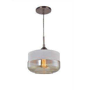 Fuse 1-Light Jar Pendant by Woodbridge Lighting