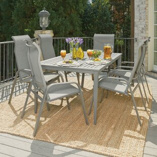 Red Barrel Studio Dinapoli Outdoor 7 Piece Dining Set