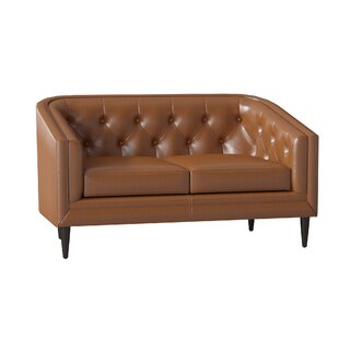 Bedford Leather Chesterfield Loveseat