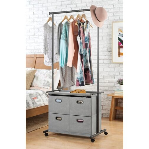 Rumi 32.8in W 4-Drawer Garment Rack