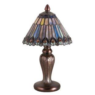 Tiffany jeweled peacock12 Table Lamp