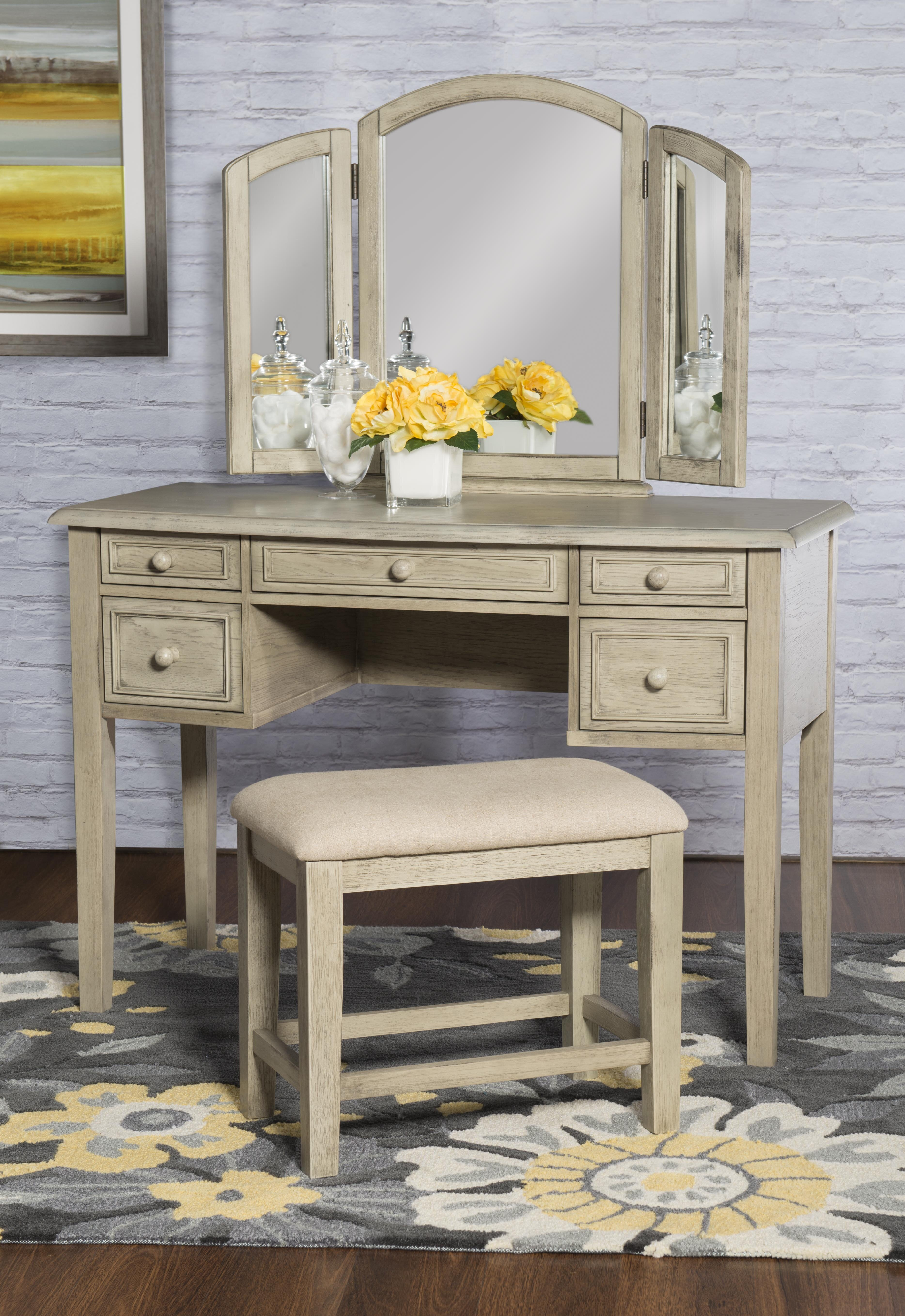 Farmhouse Rustic Makeup Vanities Birch Lane