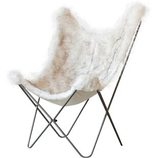 Vilonia Butterfly Faux Fur Cover Lounge Chair