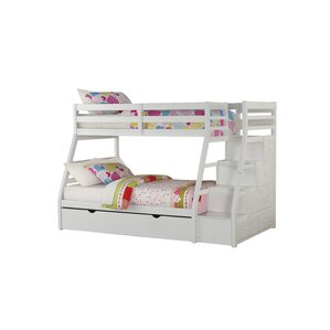 Reece Twin Over Full Slat Bunk Bed with Storage Ladder and Trundle by Viv + Rae