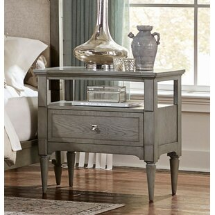 Lanclos Wooden 1 Drawer Nightstand by One Allium Way