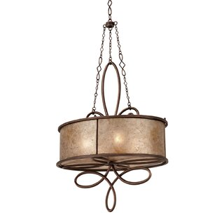 Whitfield 4-Light Drum Chandelier by Kalco