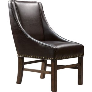 James Genuine Leather Upholstered Dining Chair (Set of 2) by Home Loft Concepts