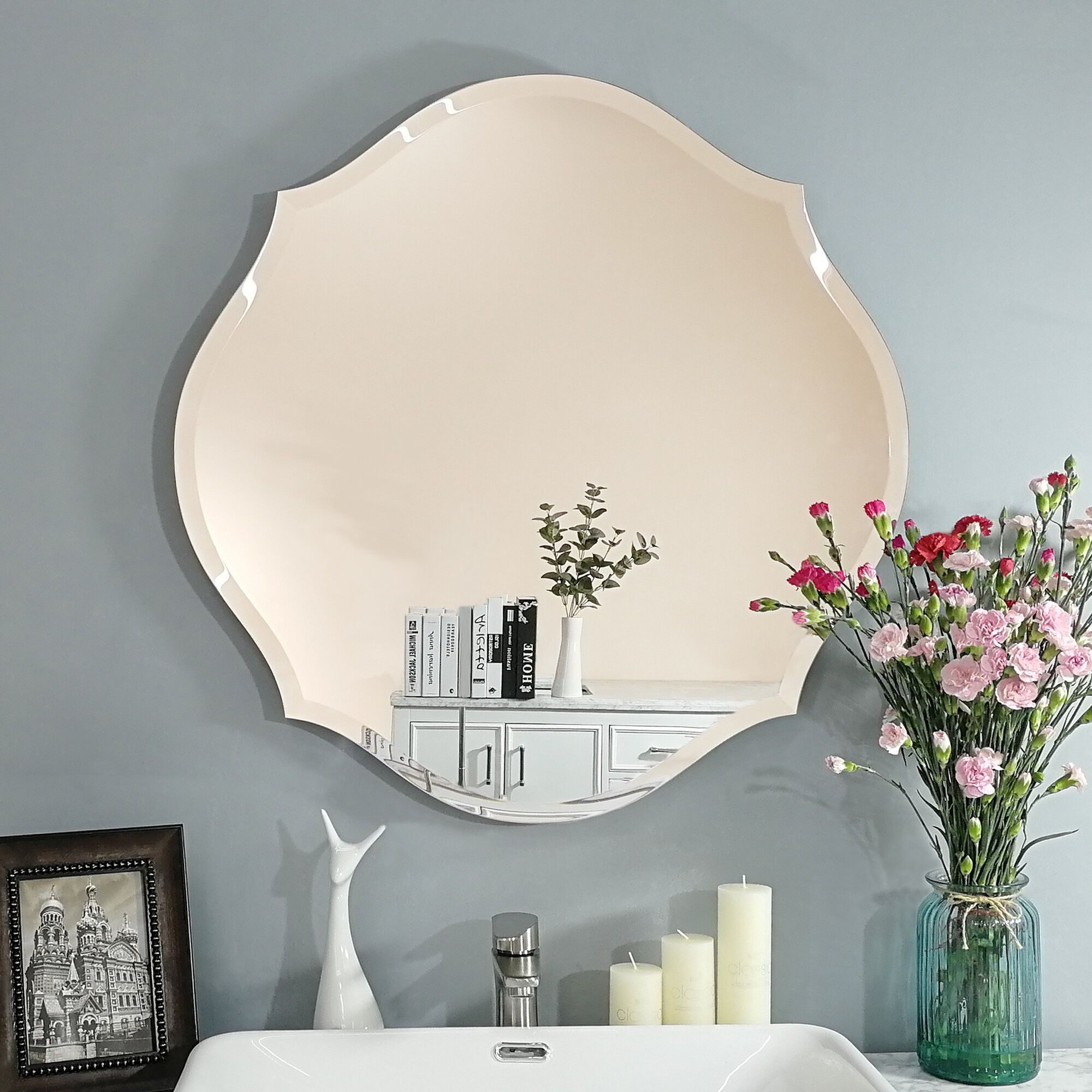 Willa Arlo Interiors Sheri Beveled Venetian Frameless Bathroom Mirror Reviews Wayfair
