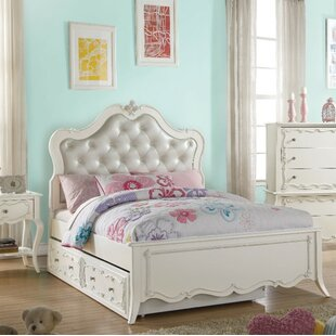 Haddox Pine Wood Button Tufted Headboard Twin Platform Bed