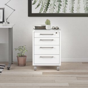 Shepshed 4 Drawer Mobile Filing Cabinet By Mercury Row