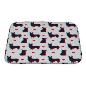 Animals Corgi Dog Pattern Bath Rug