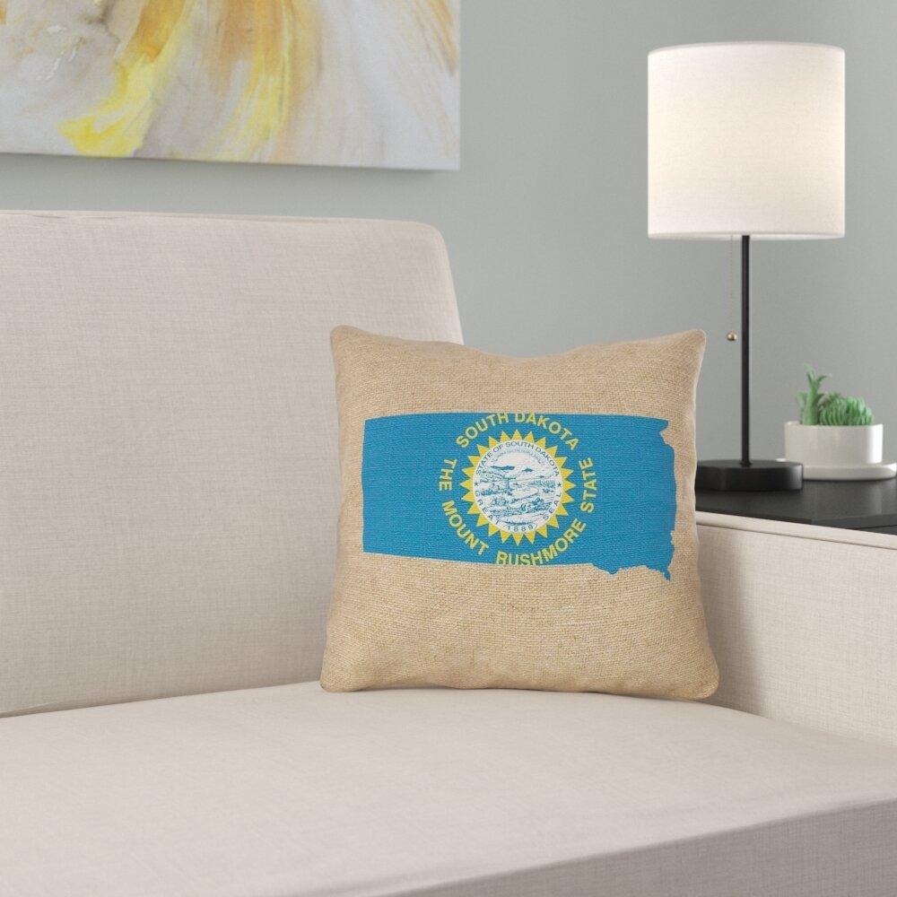 East Urban Home South Dakota Flag Throw Pillow Wayfair