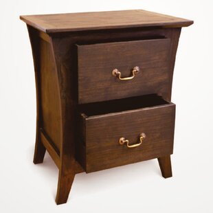 NES Furniture Camurry Solid 2 Drawer Nightstand