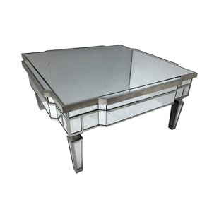Superieur Edwards Mirrored Square Coffee Table ...