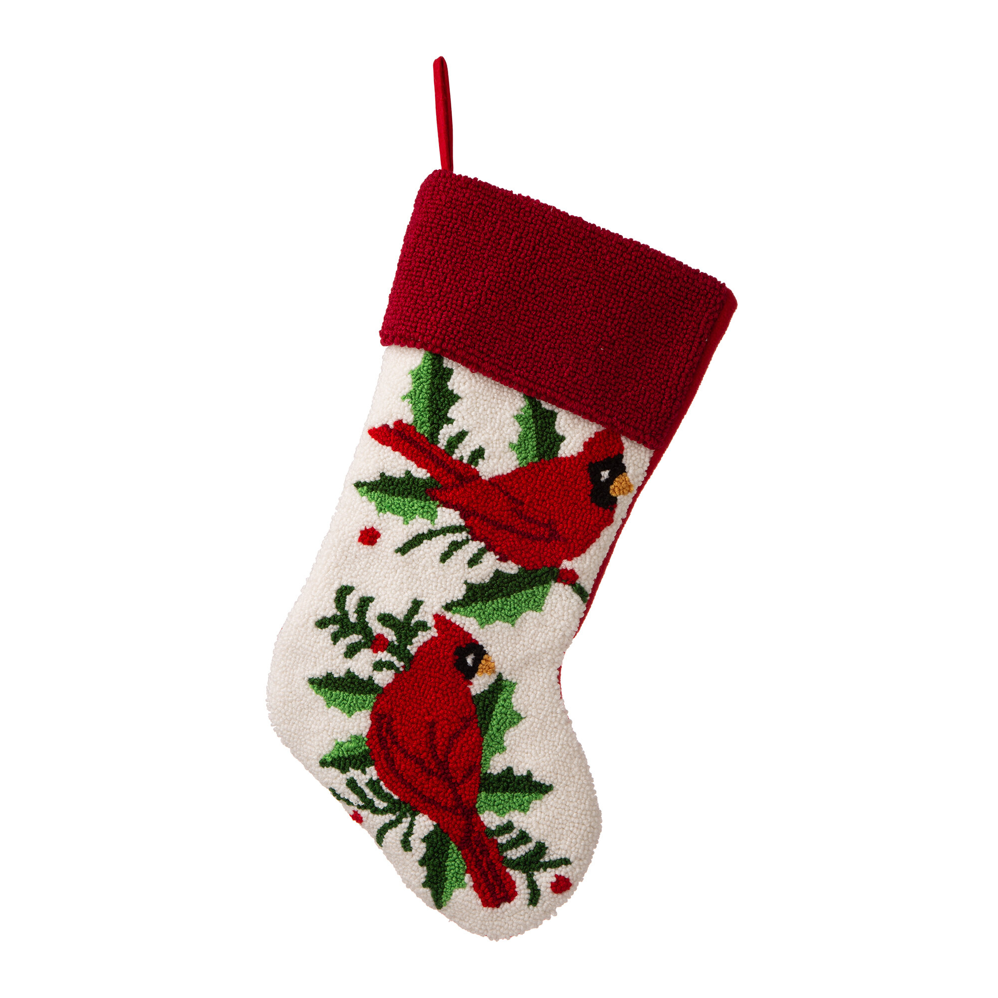 The Holiday Aisle Hooked Cardinal Stocking Wayfair