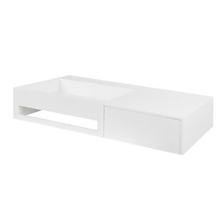 Best Price Vernon Stone 35.5 Wall Mount Bathroom Sink By Maykke
