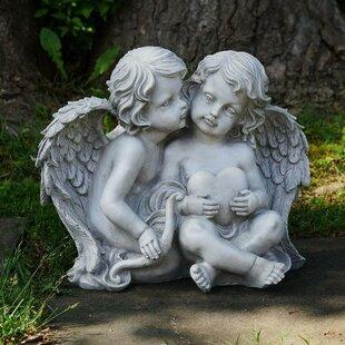 Northlight Seasonal Cherub Sitting Angels Outdoor Garden Statue