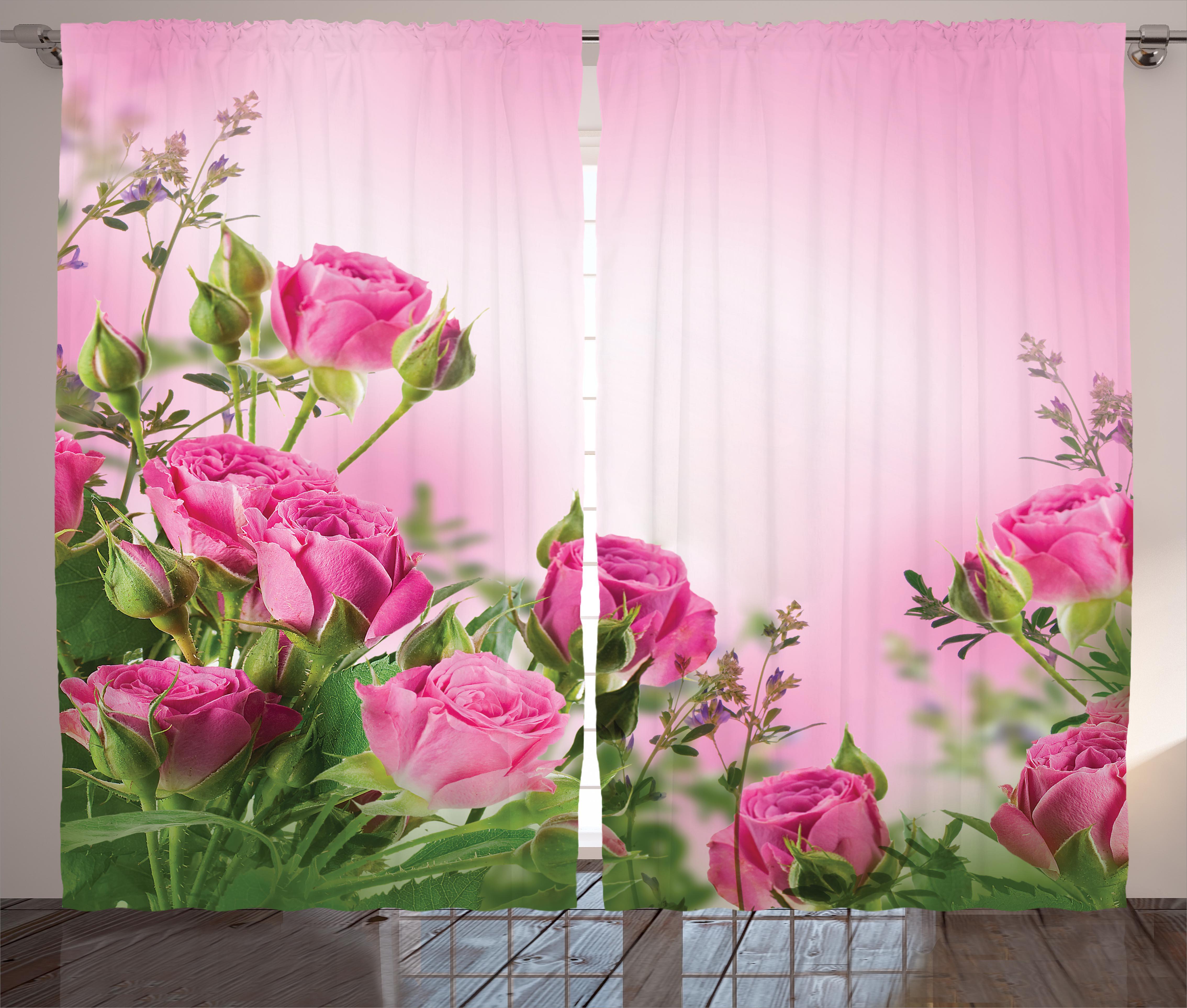 Red Barrel Studio Turner Flower Graphic Print And Text Semi Sheer Rod Pocket Curtain Panels Wayfair