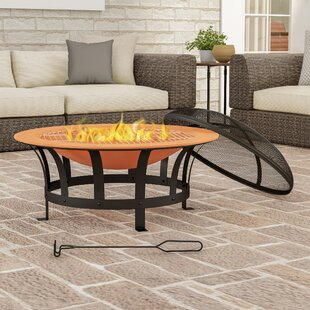 Outdoor Deep Steel Wood Burning Fire Pit By Pure Garden