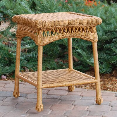 Portside Wicker Side Table Tortuga Outdoor