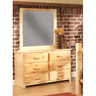 Chelsea Home Furniture Chatham 6 Drawer Double Dresser with Mirror