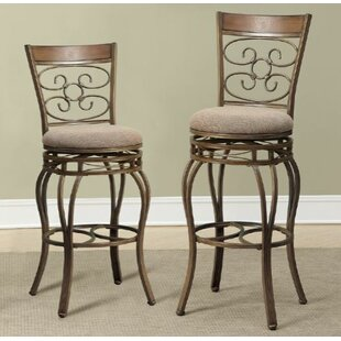 Bentleyville 29 Swivel Bar Stool (Set of 2) Fleur De Lis Living