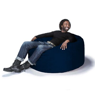Groovy Latitude Run Bean Bag Chair Upholstery Microsuede Navy Unemploymentrelief Wooden Chair Designs For Living Room Unemploymentrelieforg