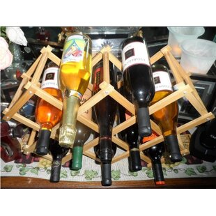 Elrod 10 Bottle Tabletop Wine Rack by Reb..