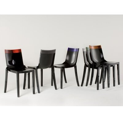 Fabulous Kartell Hi Cut Chair Set Of 2 Finish Blackpurple Inzonedesignstudio Interior Chair Design Inzonedesignstudiocom