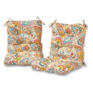 Indoor/Outdoor Lounge Chair Cushion (Set of 2)