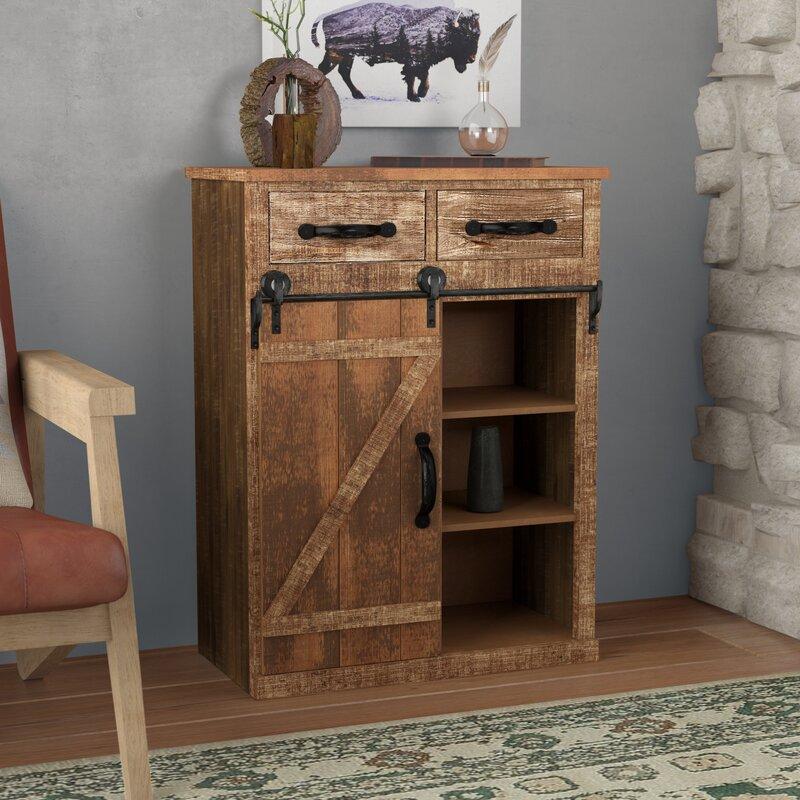 Deshmukh 1 Door Accent Cabinet by Loon Peak®