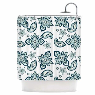 Batik Paisley Single Shower Curtain