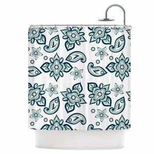 Batik Paisley Single Shower Curtain