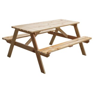 Ingrid A-Frame Outdoor Wooden Picnic Table by Loon Peak Cool