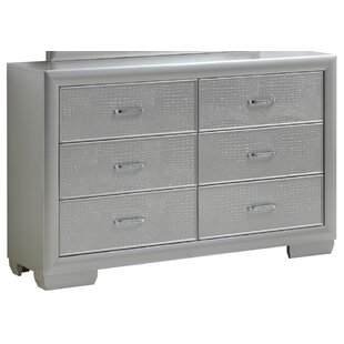 Everly Quinn Aguilera 6 Drawer Double Dre..