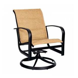 Fremont Padded Sling Rocker Swivel Patio Dining Chair