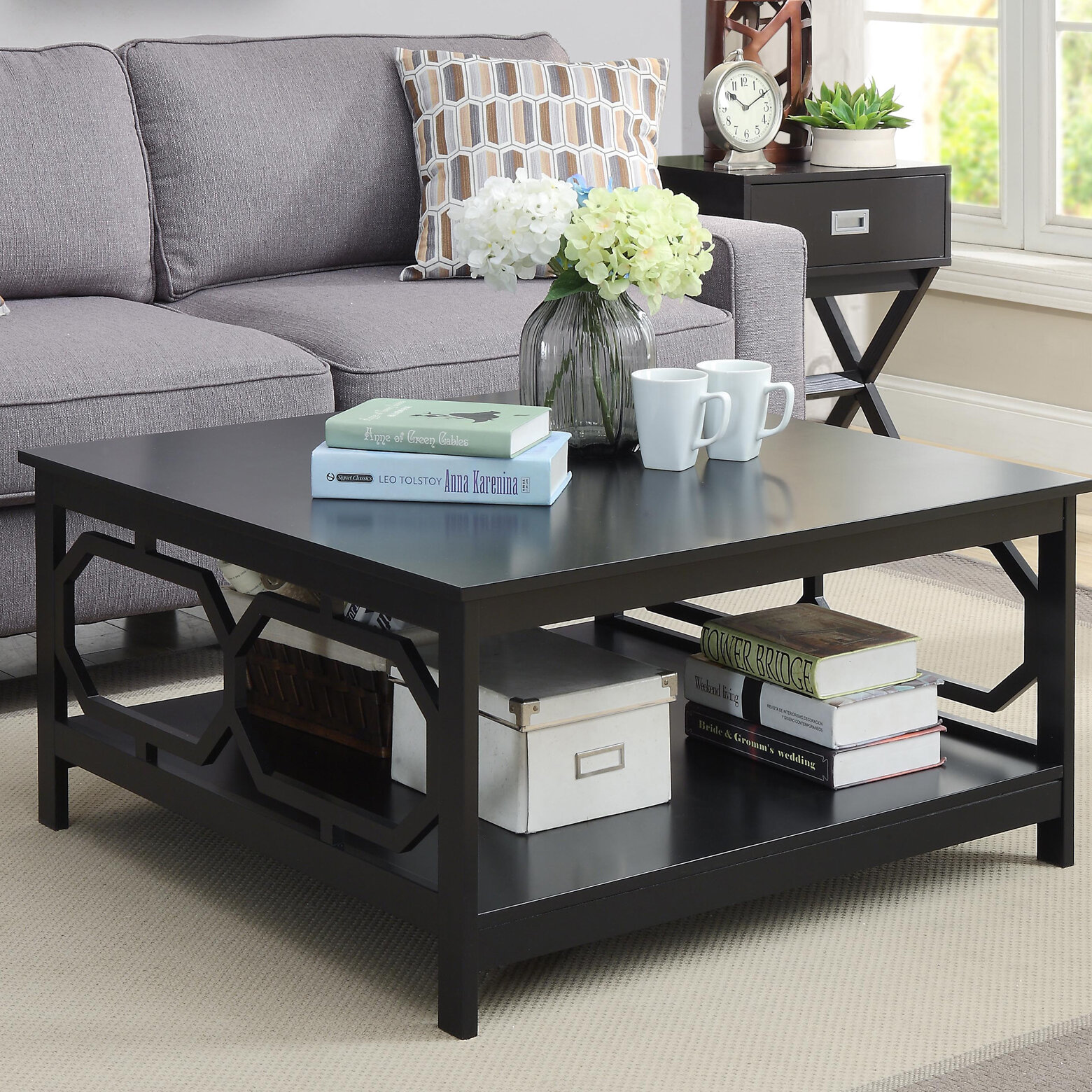 Picture of: Black Square Coffee Tables You Ll Love In 2020 Wayfair