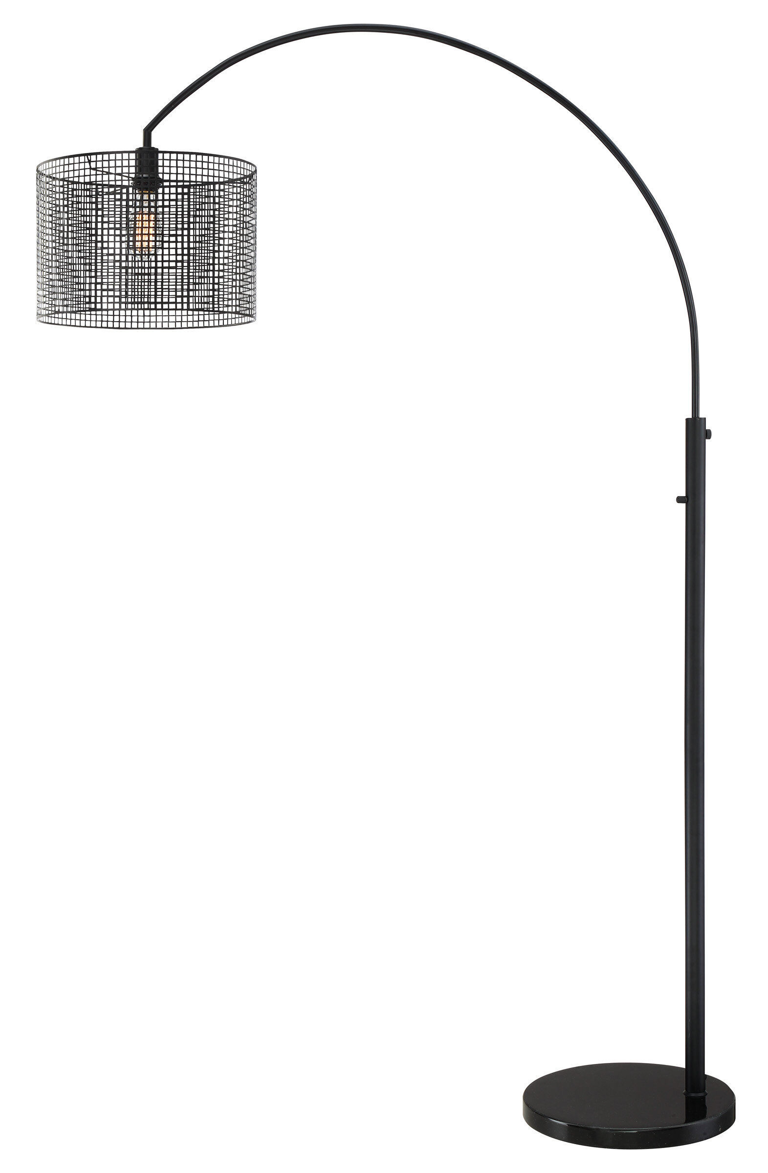 Image of: Elle 79 5 Arched Floor Lamp Reviews Allmodern