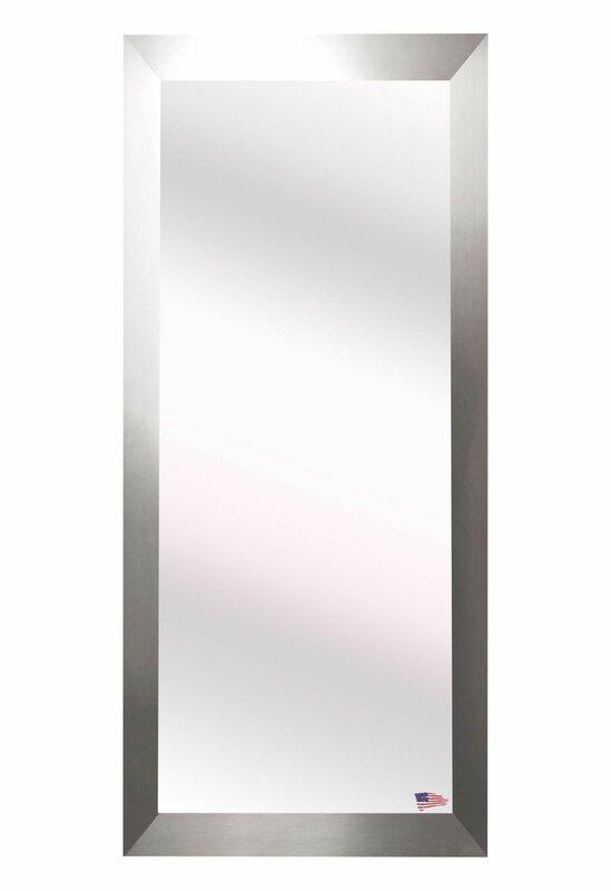 Brushed Nickel Wall Mirror wade logan brushed nickel aluminum full body wall mirror & reviews